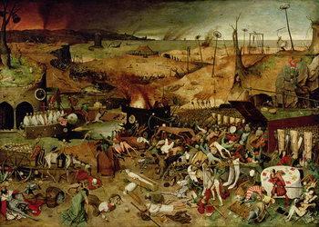 Reprodução do quadro The Triumph of Death, c.1562