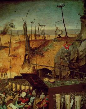 Reprodução do quadro The Triumph of Death, c.1562 (oil on panel)