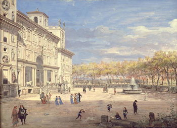 Reprodução do quadro  The Villa Medici, Rome, 1685