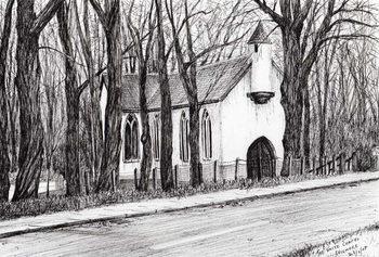 Reprodução do quadro The White Chapel Aviemore, 2007,