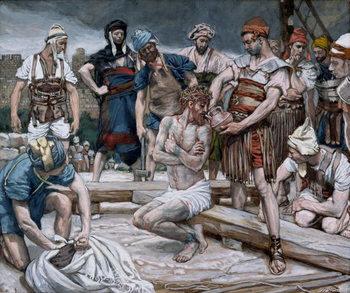 Reprodução do quadro The Wine Mixed with Myrrh, illustration for 'The Life of Christ', c.1884-96