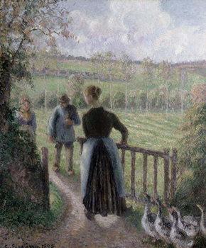 Reprodução do quadro  The Woman with the Geese, 1895