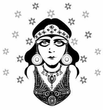 Reprodução do quadro Theda Bara, American silent film actress, 1890-1955