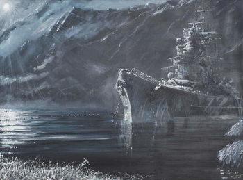 Reprodução do quadro  Tirpitz The Lone Queen Of The North 1944, 2007,