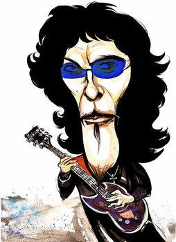 Reprodução do quadro Tommy Iommi - caricature