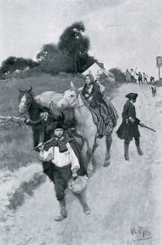 Reprodução do quadro  Tory Refugees on Their Way to Canada, illustration from 'Colonies and Nation' by Woodrow Wilson, pub. Harper's Magazine, 1901