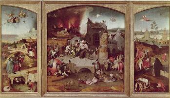 Reprodução do quadro  Triptych of the Temptation of St. Anthony