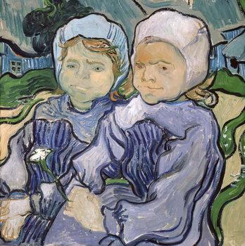 Reprodução do quadro  Two Little Girls, 1890