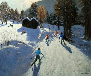 Reprodução do quadro  Two mountain huts, Pleney, Morzine