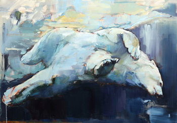 Reprodução do quadro  Under the Ice, 2015,