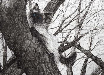 Reprodução do quadro Up the apple tree, 2006,
