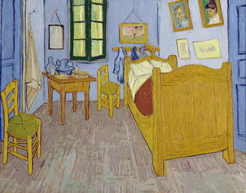 Reprodução do quadro  Van Gogh's Bedroom at Arles, 1889
