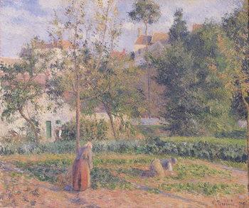 Reprodução do quadro  Vegetable Garden at the Hermitage, Pontoise, 1879