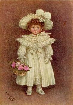 Reprodução do quadro 'Vera Evelyn Samuel', 1896 by Kate Greenaway