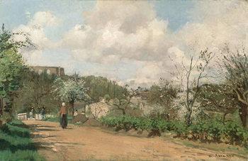 Reprodução do quadro  View from Louveciennes, 1869-70