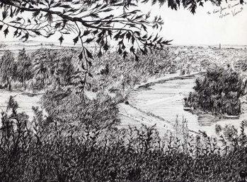 Reprodução do quadro  View from Richmond Hill London, 2004,