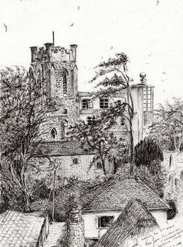 Reprodução do quadro  View from St Catherines school Ventnor I.O.W., 2011,