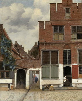 Reprodução do quadro View of Houses in Delft, known as 'The Little Street', c.1658