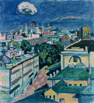Reprodução do quadro View of Moscow