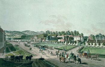 Reprodução do quadro View of the Augarten Palace and Park, Vienna