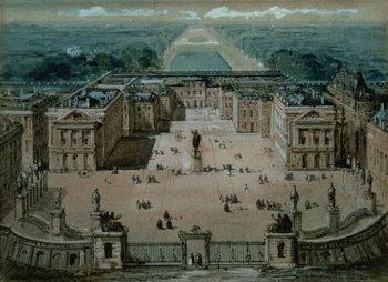 Reprodução do quadro View of Versailles