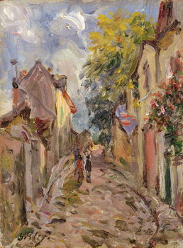 Reprodução do quadro  Village Street Scene