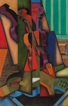 Reprodução do quadro  Violin and Guitar, 1913