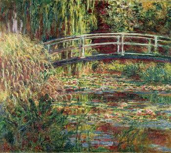 Reprodução do quadro  Waterlily Pond: Pink Harmony, 1900