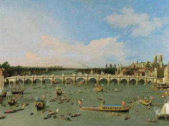 Reprodução do quadro  Westminster Bridge, London, With the Lord Mayor's Procession on the Thames