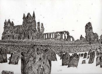 Reprodução do quadro Whitby Abbey, 2007,