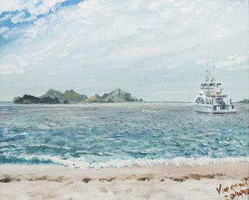 Reprodução do quadro  Whitsunday Islands Australia, 1998,