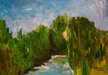 Reprodução do quadro  Winding river, 2009