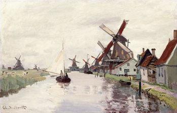 Reprodução do quadro  Windmill in Holland, 1871