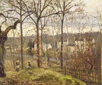 Reprodução do quadro  Winter Landscape at Louveciennes, c.1870