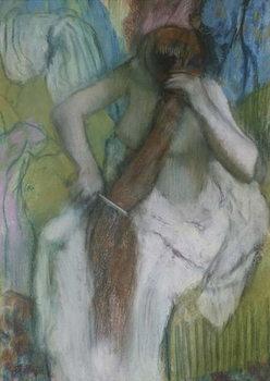 Reprodução do quadro  Woman Combing her Hair, 1887-90