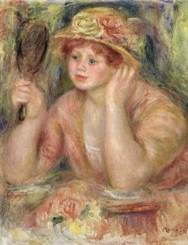 Reprodução do quadro  Woman with a Mirror, c.1915
