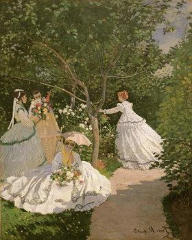 Reprodução do quadro  Women in the Garden, 1866
