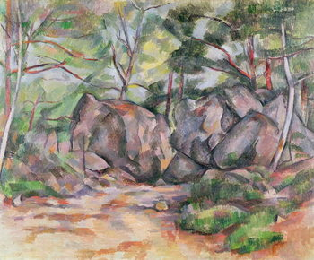 Reprodução do quadro  Woodland with Boulders, 1893