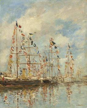 Reprodução do quadro  Yacht Basin at Trouville-Deauville, c.1895-6