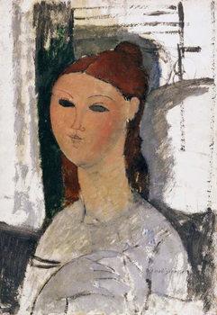 Reprodução do quadro  Young Woman, Seated, c.1915