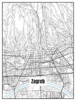 Map Zagreb