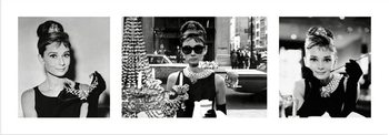 Audrey Hepburn - Breakfast at Tiffany's Triptych Reproduction