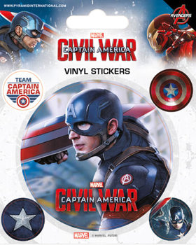 Autocolantes Captain America Civil War - Captain America