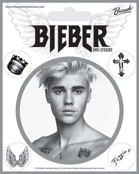 Autocolantes Justin Bieber - Bieber Black and White