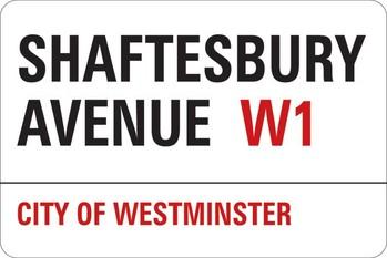 Autocolantes  LONDON - shaftesbury avenue