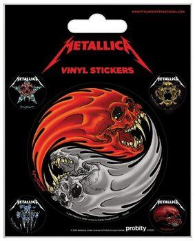 Autocolantes  Metallica - Yin & Yang Skulls Pushead