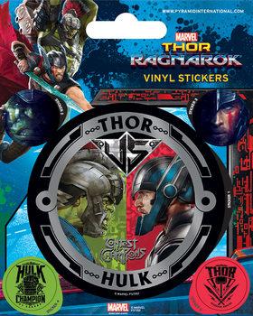 Autocolantes  Thor Ragnarok - Thor vs Hulk