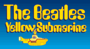 BEATLES - sub logo Autocollant