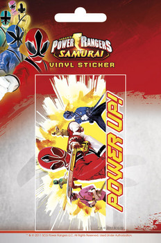 POWER RANGERS - power up Autocollant