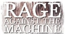 RAGE AGAINST THE MACHINE - logo Autocollant